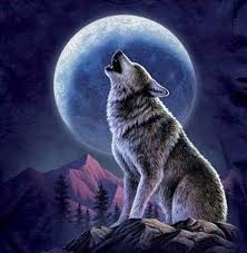 wolf and moon cross by lone wolf cross stitch patterns look on zibbet