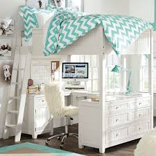girls loft bed with a desk and vanity chelsea vanity loft bed pbteen pottery barn loft bed with desk