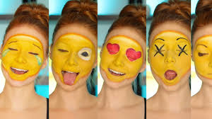 kissy kissy halloween diy emoji costume makeup tutorial cc youtube