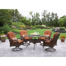 Patio Table And Chair Sets Better Homes And Gardens Azalea Ridge 5 Piece Patio Dining Set