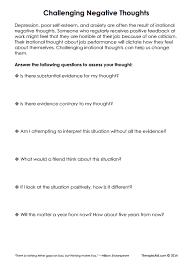 Sample Loan Processor Resume Self Talk Worksheets Challenging Negative Thoughts Worksheet