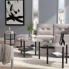 livingroom table sets glass coffee table sets you ll wayfair