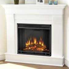 Electric Corner Fireplace Real Chateau Corner Electric Fireplace Reviews Wayfair