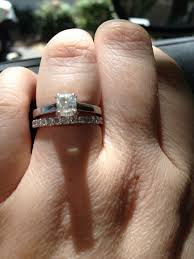 solitaire engagement ring with wedding band let me see your solitaire engagement rings with wedding