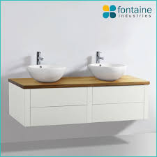 64 Best Bathrooms With Timber by Bellagio Timber Top Vanity Bathroom Cabinet Bench Wall Twin Basin