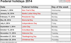 federal holidays 2014 usa png