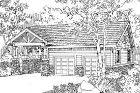 craftsman house plans garage w carport 20 021 associated designs garage plan 20 021 front elevation