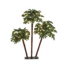 trio of palm trees pre lit with led lights sears canada polyvore