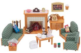 living set sylvanian families deluxe living room set amazon co uk toys u0026 games