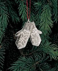 pewter ornament scandinavian mittens
