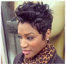a stylish pixie hairstyle from najah proprietor of like the river