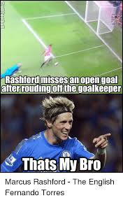 Fernando Torres Meme - rashford misses an open goal after rouding offthe goalkeeper thats