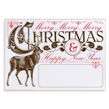 personalized christmas cards woodland vintage christmas reindeer design your own customized