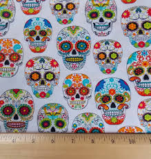 day of the dead home decor fabric skull fabric sugar skull day of the dead fabric mexican