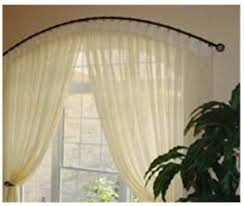 Curved Curtain Rods For Bow Windows Curved Curtain Rods For Arched Windows Business For Curtains