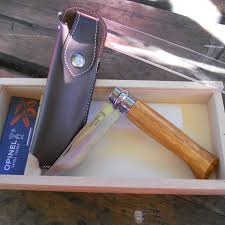 Opinel Kitchen Knives by No 8 Olivewood Knife With Gift Box By Opinel Boundary Waters Catalog