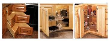 kitchen corner cabinet solutions 3 different corner cabinet solutions