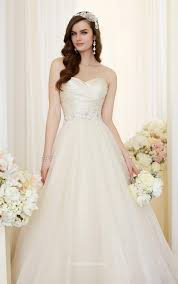 gown wedding dresses uk lace up ruched bodice strapless sweetheart gown wedding dress