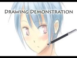 paint tool sai demonstration brushes blending and hair