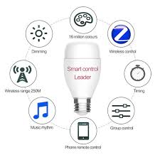 alexa controlled light bulbs oobest e27 smart wifi led light bulb 6w rgb 16 million color for