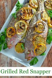Fish Mediterranean Style Grilled Red Snapper Savory Experiments