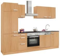 Billige K Henblock Küchenzeile Mit E Geräten Optifit Odense Breite 270 Cm Online
