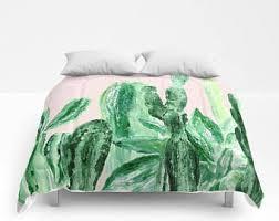 Blush Pink Comforter Cactus Comforter Etsy