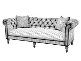 Bassett Chesterfield Sofa upholstery chesterfield sofa 3d cgtrader