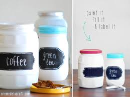 martha stewart kitchen canisters diy chalkboard label jars