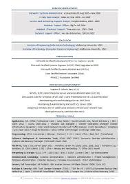 System Engineer Resume Sample by Senior It Resume Example