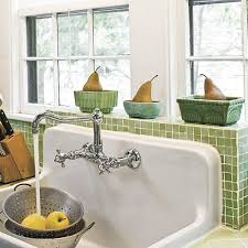 farmhouse sink with backsplash farmhouse sinks with vintage charm southern living