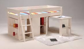 chambre enfant bois massif lit combiné toni en bois massif blanchi 90x190 cm lit enfant but