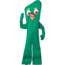 amazon com official costumes big boys gumby costume medium 7 10
