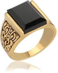 gold ring for men buy black retro exquisite carved resin gold ring for men size 9us