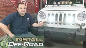 jeep light bar bumper jeep wrangler rugged ridge light bar kit bumper mounted ss two 3 1
