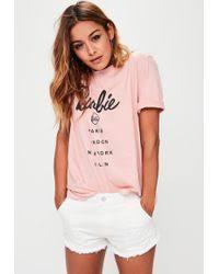 asos body barbie print pink lyst