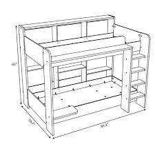 Bunk Bed Drawing Harriet Bee Melody Bunk Bed Reviews Wayfair