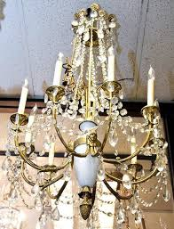 Opaline Chandelier Antiques Art Vintage