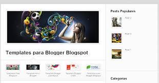 template para blogger free blogspot templates template para