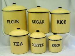 vintage style kitchen canisters 129 best yellow canisters images on vintage kitchen
