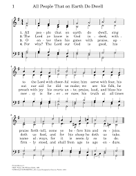 traditional thanksgiving hymns all people that on earth do dwell hymnary org