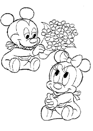 baby mini mouse coloring pages coloring home