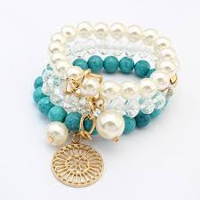 beaded bracelet glass pearl images Fashion gemstone crystal beads glass pearl beads bracelets sets jpg