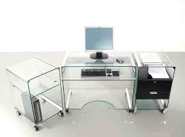 Metal Office Desks Various Furniture Fetching Glass Top Office Desk In Silver Metal