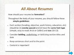 types resume resume types