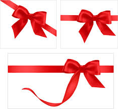 gift card with ribbons design vector free vector in encapsulated