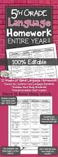 5th grade language spiral review homework morning work grammar