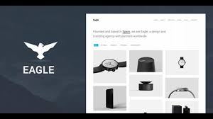 eagle responsive minimal wordpress theme themeforest website