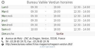 horaire bureau vall gallery of bureau vallée verdun bureau vallée verdun 28