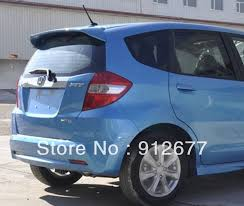 sale abs spoiler for honda fit jazz without paint primer